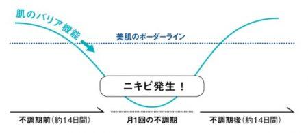 オルビス クリア 肌のバリア機能低下スケジュールのイメージ図解