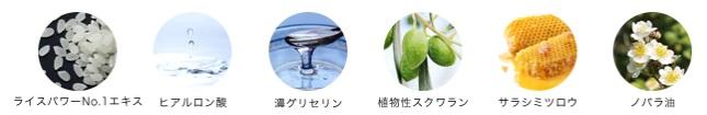 モイスチュアエマルジョンの6種の保湿成分