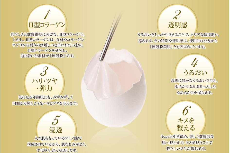 ビューティーオープナー 卵殻膜の6つの作用